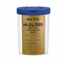 Gold Label Hi Gloss Mini Wipes, 25sztuk